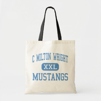C Milton Wright - Mustangs - High - Bel Air Canvas Bag