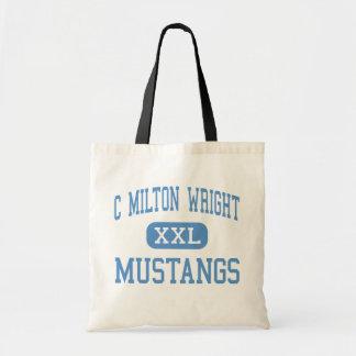 C Milton Wright - Mustangs - High - Bel Air Budget Tote Bag