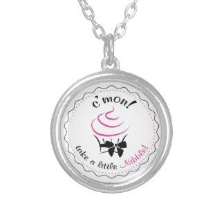 C mon - take a little Nibble necklace - white