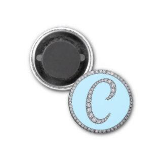 C monogram bling magnet