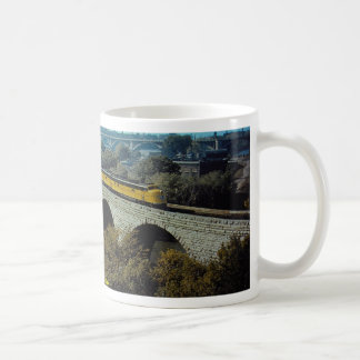C & NW EMD E-6a+a #5005A with streamliner on bridg Coffee Mug