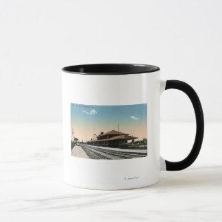 C & NW Railroad Depot Mug