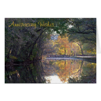 C&O Canal Scene for Wedding Anniversary Greeting Card