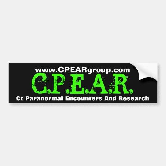 C.P.E.A.R. Bumper sticker