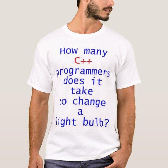 C++ Programmer Light Bulb Joke T-Shirt
