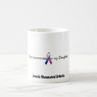 c_purpleblue, Give awareness for my Daughter, J... Basic White Mug