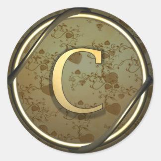 c round sticker