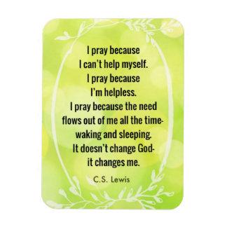 C.S. Lewis Prayer Poem Magnet