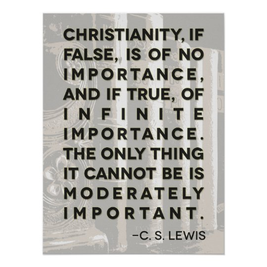 "C. S. Lewis Quote Poster - ""Christianity"""