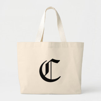 C-text Old English Large Tote Bag