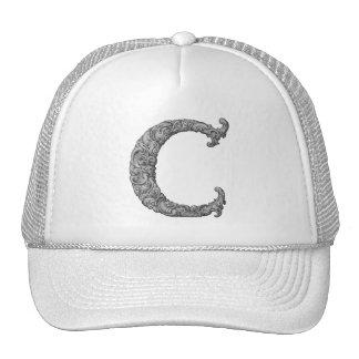 C - The Falck Alphabet Silvery Trucker Hats