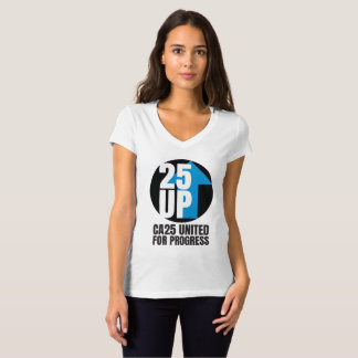 CA25UP Lg Black Logo Slim-Fit V-Neck Tee