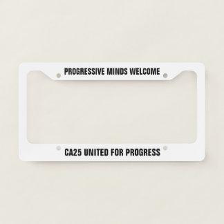 CA25UP License Plate Frame on White