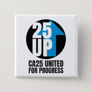 CA25UP Square Logo Button