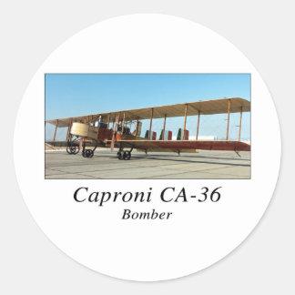 CA36 ROUND STICKER