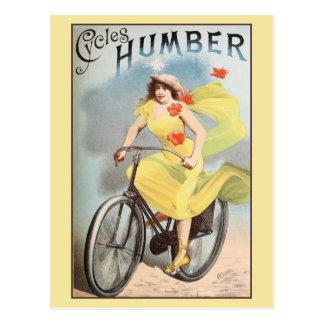 ca 1890 Vintage Cycles Bicyles Ad Humber Postcard