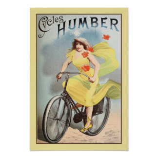 ca 1890 Vintage Cycles Bicyles Ad Humber Poster