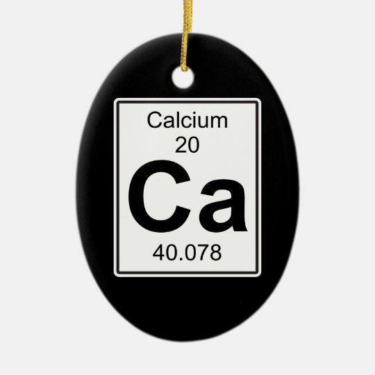 Ca - Calcium Christmas Ornament