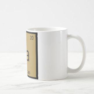 Ca - Cappucino Coffee Chemistry Periodic Table Coffee Mug