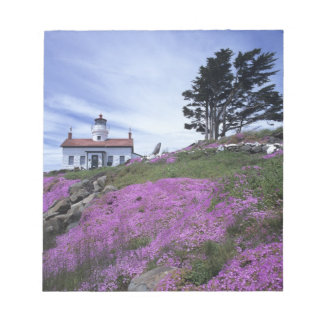 CA, Crescent City, Battery Point lighthouse with Notepads