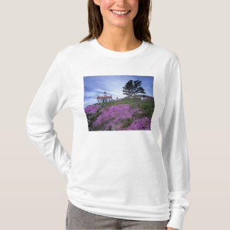CA, Crescent City, Battery Point lighthouse with T-Shirt