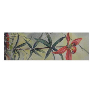 CA- Floral Art Bookmarks Pack Of Skinny Business Cards