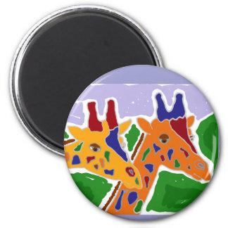 CA- Folk Art Giraffe Design Magnet