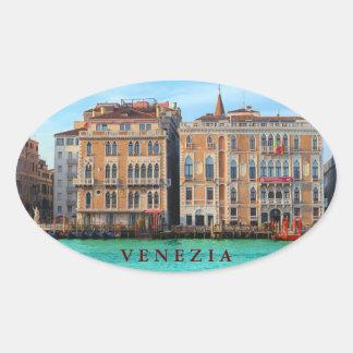 Ca' Giustinian and Bauer Il Palazzo Oval Sticker