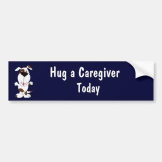 CA- Hug a Caregiver Today Bumper Sticker