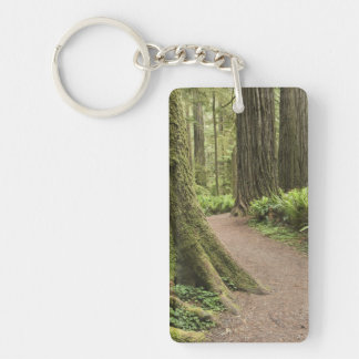 CA, Jedediah Smith State Park, Simpson-Reed Double-Sided Rectangular Acrylic Key Ring