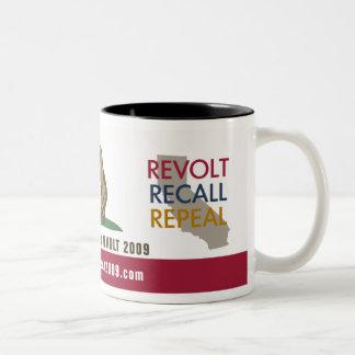 CA Tax Revolt 2009 Flag Drinkware Coffee Mugs