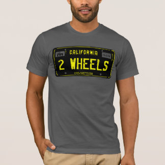 CA Vintage Plate - 2 WHEELS (template) T-Shirt