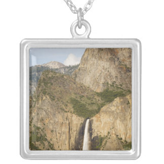CA, Yosemite NP, Bridalveil Falls Silver Plated Necklace