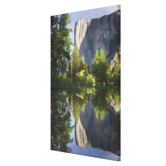 CA, Yosemite NP, El Capitan reflected in Merced Canvas Print