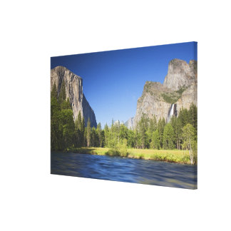 CA, Yosemite NP, Valley view with El Capitan, Canvas Print