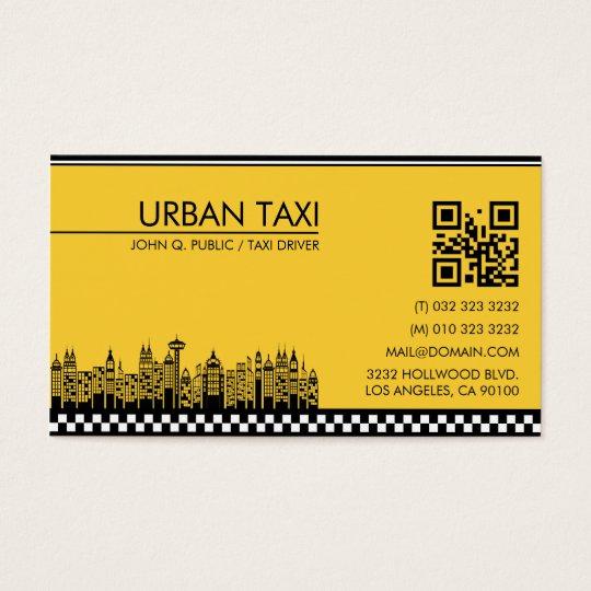 Cab Driver Taxi Driver Modern QR Code Business