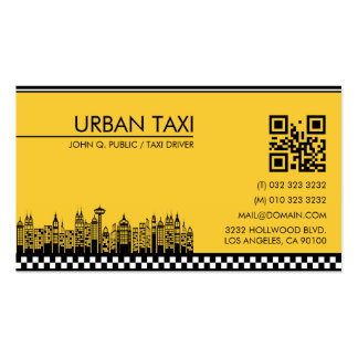 Cab Driver Taxi Driver Modern QR Code Pack Of Standard Business Cards