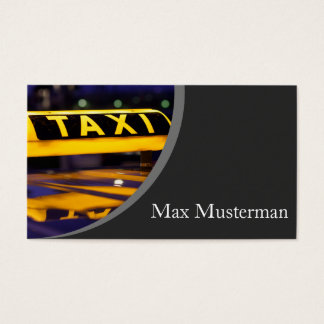Cab driver visiting cards