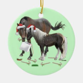 Caballo and Cisco Christmas Round Ceramic Decoration