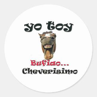 Caballo Bufiao Round Sticker