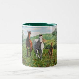 caballos Two-Tone coffee mug