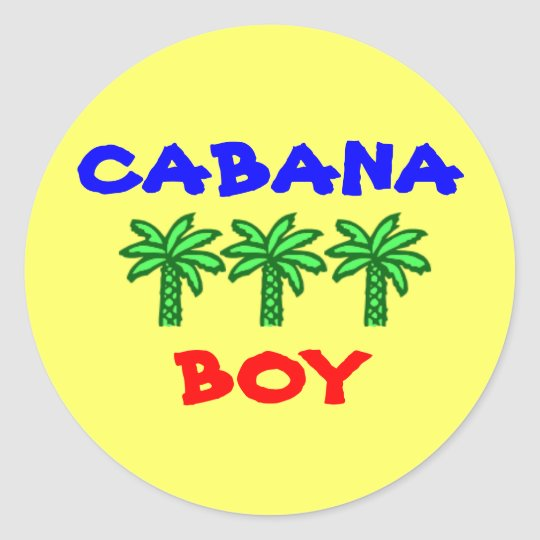 Cabana Boy stickers