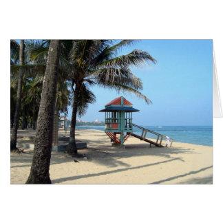 Cabana on Beach card