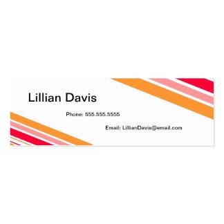 Cabana Stripe Business Cards