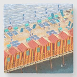 Cabanas of Sorrento Fine Art Stone Coaster