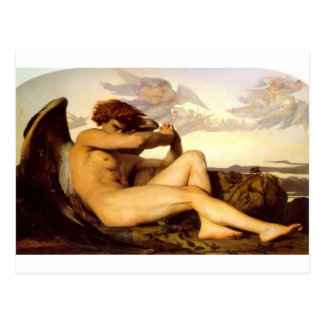 Cabanel Alexandre Fallen Angel Postcard
