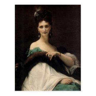 Cabanel  Alexandre  La  Comtesse  de  Keller  1873 Postcard