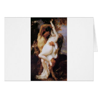 Cabanel Alexandre Nymphe et Satyr 1860 Greeting Card