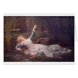 Cabanel Alexandre Ophelia 1883 Card