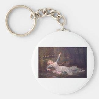 Cabanel Alexandre Ophelia 1883 Basic Round Button Key Ring